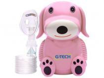 Nebulizador G-Tech Dog Infantil com Máscara de Silicone - Bivolt Rosa -