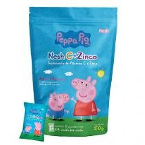 Nesh Vitamina C + Zinco Peppa Pig Morango 60 Gomas - NESH C