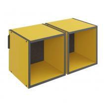 Nicho Pequeno Duplo 59cm 1004 Colorido Mov BE Móveis - Be mobiliário