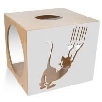 Nicho Quadrado Scratch para Gatos Cinza 7050 - Carlu - Carlu