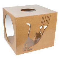 Nicho Quadrado Scratch Para Gatos Natural 7030 Carlu - Carlu Pet House