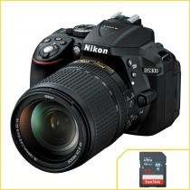 Nikon D5300 com Objetiva 18-140mm f3.5-5.6 G ED VR + SanDisk de 32Gb - Nikon