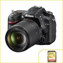 Nikon D7200, DX, WiFi com Lente 18-140mm VR + Extreme de 32Gb. - Nikon