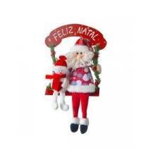 Noel boneco para porta 36 cm Wincy casa
