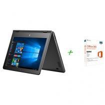 "Notebook 2 em 1 Multilaser M11W Intel Quad Core - 2GB SSD 32GB LCD 11,6"" + Microsoft Office 365"
