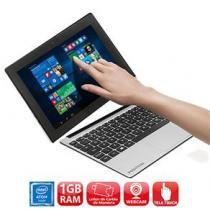 """Notebook 2 em 1 Touch Positivo Duo ZX3040 com Intel Atom Quad Core, 1GB, 16GB SSD, Leitor de Cartões, Mini HDMI, Bluetooth, LED 10.1"""" e Windows 10 -"""