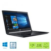 "Notebook Acer A515-51-52CT Intel Core i5 4GB RAM 1TB HD 15.6"" Full HD Windows 10 - Acer"