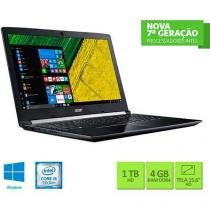 "Notebook Acer A515-51-55QD Intel Core I5 4GB 1TB Tela LED 15.6"" Windows 10 - Preto -"