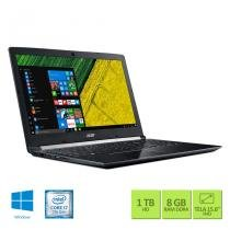 "Notebook Acer A515-51G-71KU Intel Core i7 8GB RAM 1TB HD NVIDIA GeForce 2GB 15.6"" Full HD Windows 10 - Acer"