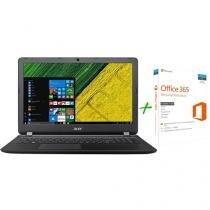 """Notebook Acer Aspire ES1-572-51NJ Intel Core i5 7ª - Geração 4GB 1TB LED 15,6"""" + Microsoft Office 365"""