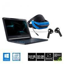 Notebook Acer Predator Triton700 77DD Corei7 32GB SSD GeForce1080 + Óculos de Realidade Misturada -