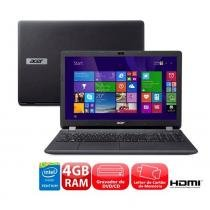 "Notebook Aspire LED 15.5"" Intel Pentium Quad Core, RAM 4GB, HD 500GB e Windows 8.1 - Acer - Acer"