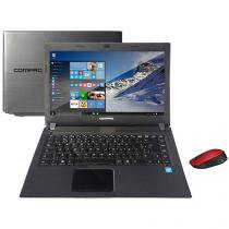 "Notebook Compaq Presario CQ23 Intel Dual Core - 4GB 500GB LED 14"" Windows 10 + Mouse Sem Fio"