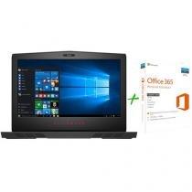 """Notebook Dell Alienware 15 Intel Core i5 8GB 1TB - LED 15,6"""" Windows 10 + Microsoft Office 365"""