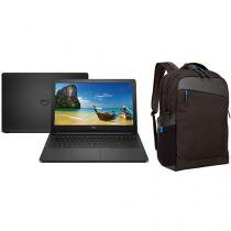 "Notebook Dell Inspiron i15-5566-D10P Intel Core i3 - 4GB 1TB LED 15,6"" Linux + Mochila"