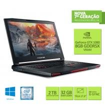 "Notebook Gamer Acer Predator 17X Intel Core i7 32GB 256GB SSD + 2TB HD GTX 1080  8 GB 17,3"" Win 10 - Acer"