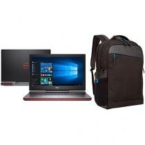 "Notebook Gamer Dell Inspiron i15-7567-A20P Intel - Core i7 8GB 1TB LED 15,6"" GeForce GTX + Mochila"