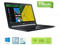 Notebook intel com teclado numerico acer nxgqdal004 a515-51g-58vh core i5 7200u 8gb 1tb win10 15.6 led -