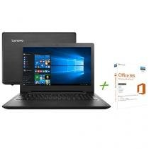 "Notebook Lenovo Ideapad 110 Intel Dual Core 4GB 1TB LED 15,6"" Windows 10 + Office 365 Personal"