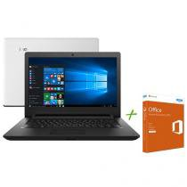"Notebook Lenovo Ideapad 110 Intel Dual Core - 4GB 500GB LED 14"" + Office Home & Business"