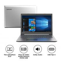"Notebook Lenovo IdeaPad 330 i5-8250U 8GB 1TB MX150 Windows 10 15.6"" HD 81FE0001BR Prata -"