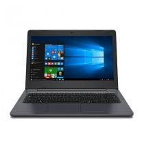 "Notebook positivo master n40i quad core 4gb 500gb 14"" windows 10 home - cinza -"