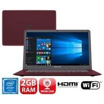 Notebook Positivo Quad Core 2GB 32GB SSD Tela 14 Windows 10 Motion Red Q232A -