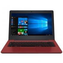 Notebook positivo stilo colors, processador intel celeron, vermelho - xc3634 - Positivo