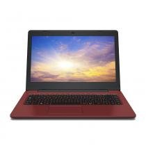 "Notebook Positivo Stilo Colors XCi3634 Celeron 4GB 32GB SSD 14"" Linux - Vermelho -"