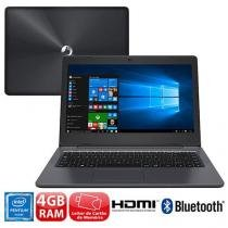 """Notebook Positivo Stilo One XC5631 com Intel Pentium Quad Core, 4GB, 32GB SSD, Leitor de Cartões, HDMI, Bluetooth, Webcam, LED 14"""" e Windows 10 - POSITIVO"""