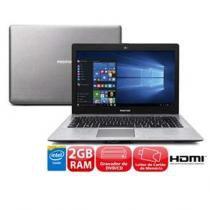 """Notebook positivo stilo xr3525 com intel dual core, 2gb, 500gb, gravador de dvd, leitor de cartões, hdmi, wireless, webcam, led 14"""" e windows 10 - Positivo"""