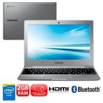 "Notebook samsung chromebook 500c12-ad1 com intel dual core n2840, 2gb, 16gb emmc, leitor de cartões, hdmi, wireless, bluetooth, led 11.6"" e chrome os -"