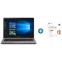 "Notebook Samsung Essentials E25 Intel Dual Core - 4GB 500GB LED 14"" + Microsoft Office 365 Personal"