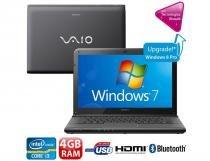Notebook Sony Vaio SVE14113EB Preto Tela 14 LED 4 GB de memória - Sony