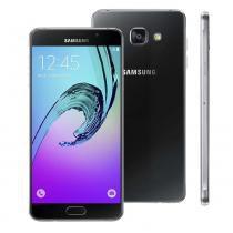 """Novo smartphone samsung galaxy a7 2016 duos sm-a710m/ds preto com dual chip, tela 5.5"""", 4g, nfc, android 5.1, câmera 13mp e processador octa-core - Sansung"""