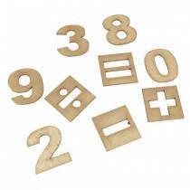 Numerais e Sinais em MDF com 35 Peças 1490 - Carlu - Carlu