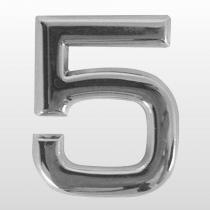 Numero (5) 39mm Auto Adesivo Em Abs Cr  Bemfixa - BEMFIXA