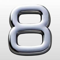 Numero (8) 39mm Auto Adesivo Em Abs Cr  Bemfixa - BEMFIXA