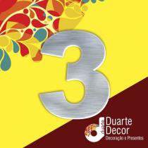 Número Residencial em Alumínio 15cm - 3 - Decore