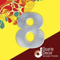 Número Residencial em Alumínio 15cm - 8 - Decore