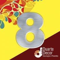 Número Residencial em Alumínio 25 cm - 8 - Decore