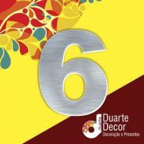 Número Residencial em Alumínio 5 cm - 6 - Decore