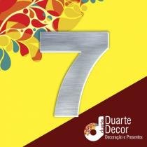 Número Residencial em Alumínio 5 cm - 7 - Decore