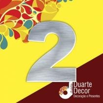 Número Residencial em Alumínio 7 cm - 2 - Decore