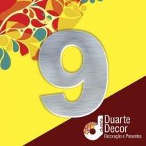 Número Residencial em Alumínio 7 cm - 9 - Decore