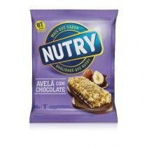 Nutry Barra de Ceral Light Avelã com Chocolate 3 Unidades - NUTRY