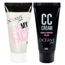 Océane Light My Face + Complete Correction Kit - Iluminador Facial + CC Cream -