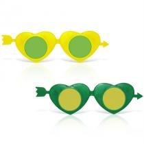 Óculos Cupido Verde e Amarelo 12 unidades Brasil - Festabox