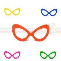 Óculos Gatão Colorido Sem Lente 10 unidades - Festabox