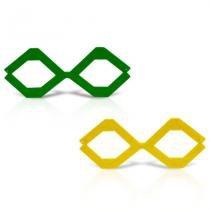 Óculos Losango Verde e Amarelo 12 unidades - Festabox
